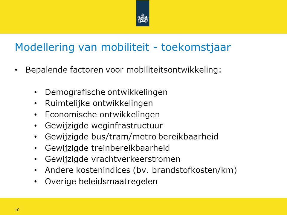 Modellering van mobiliteit - toekomstjaar