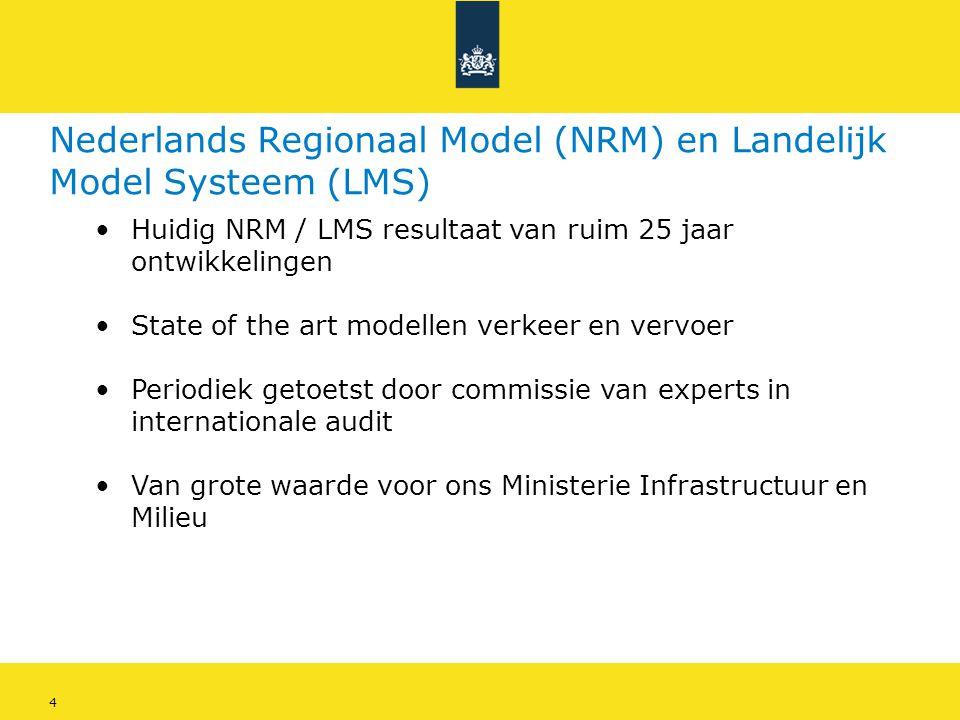 Nederlands Regionaal Model (NRM) en Landelijk Model Systeem (LMS)