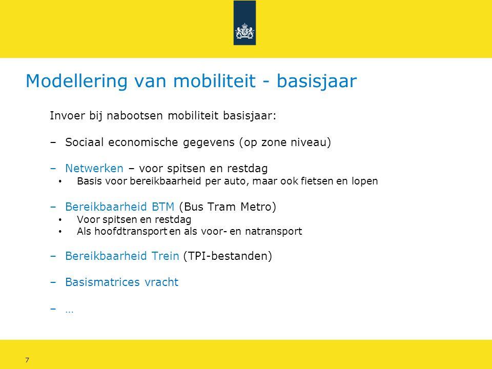 Modellering van mobiliteit - basisjaar