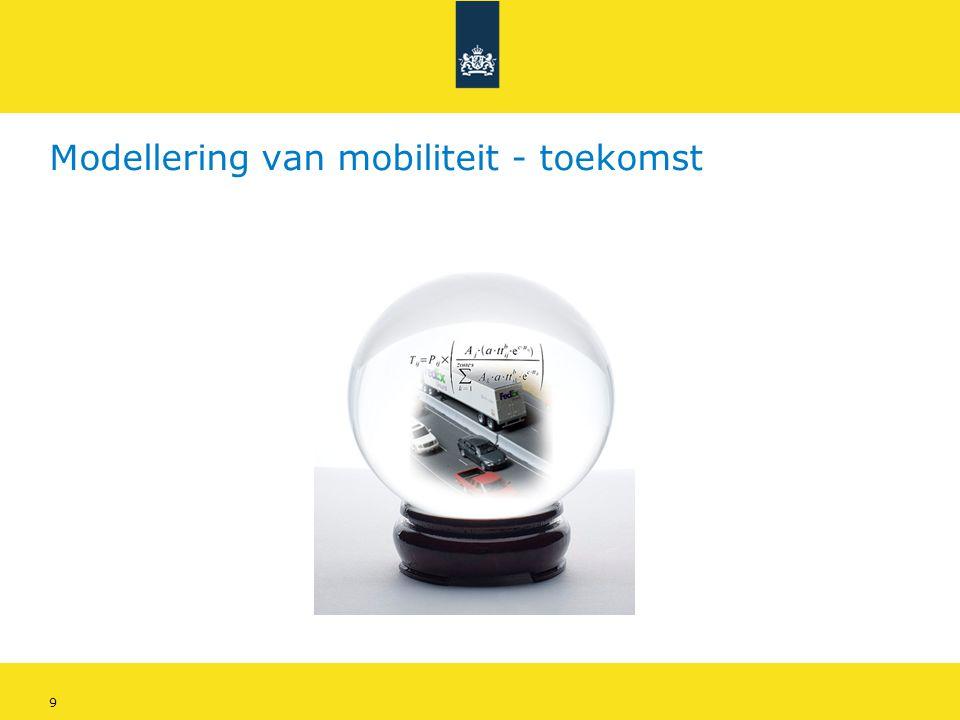 Modellering van mobiliteit - toekomst