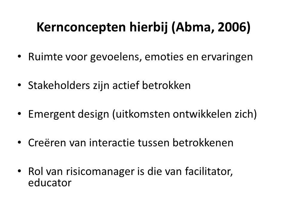 Kernconcepten hierbij (Abma, 2006)