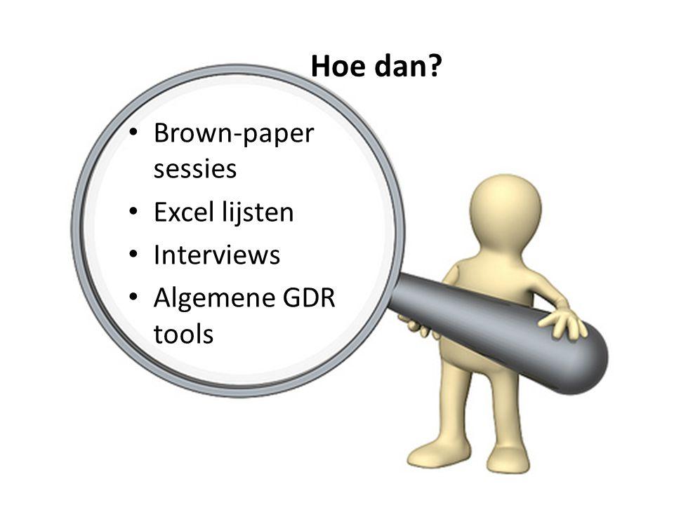 Hoe dan Brown-paper sessies Excel lijsten Interviews