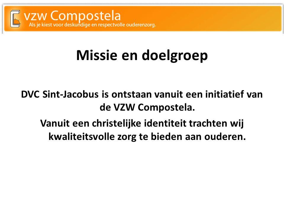 Missie en doelgroep DVC Sint-Jacobus is ontstaan vanuit een initiatief van de VZW Compostela.