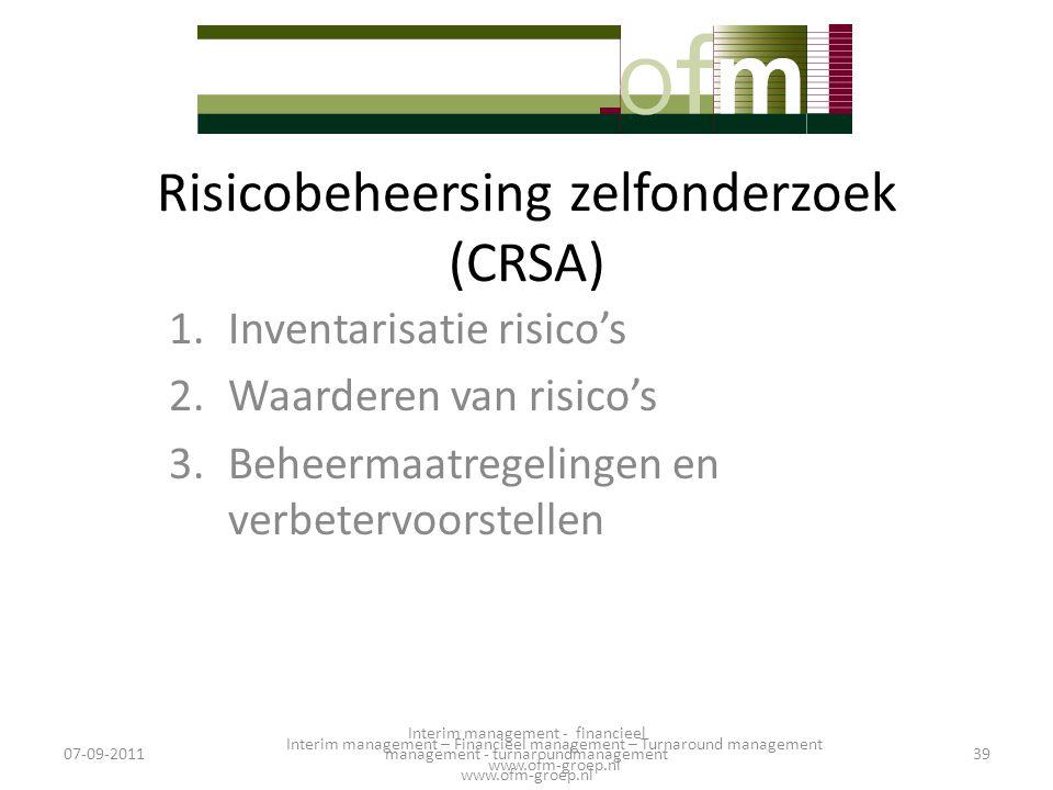 Risicobeheersing zelfonderzoek (CRSA)