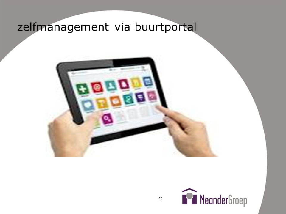 zelfmanagement via buurtportal