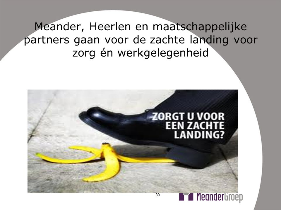 Meander, Heerlen en maatschappelijke partners gaan voor de zachte landing voor zorg én werkgelegenheid