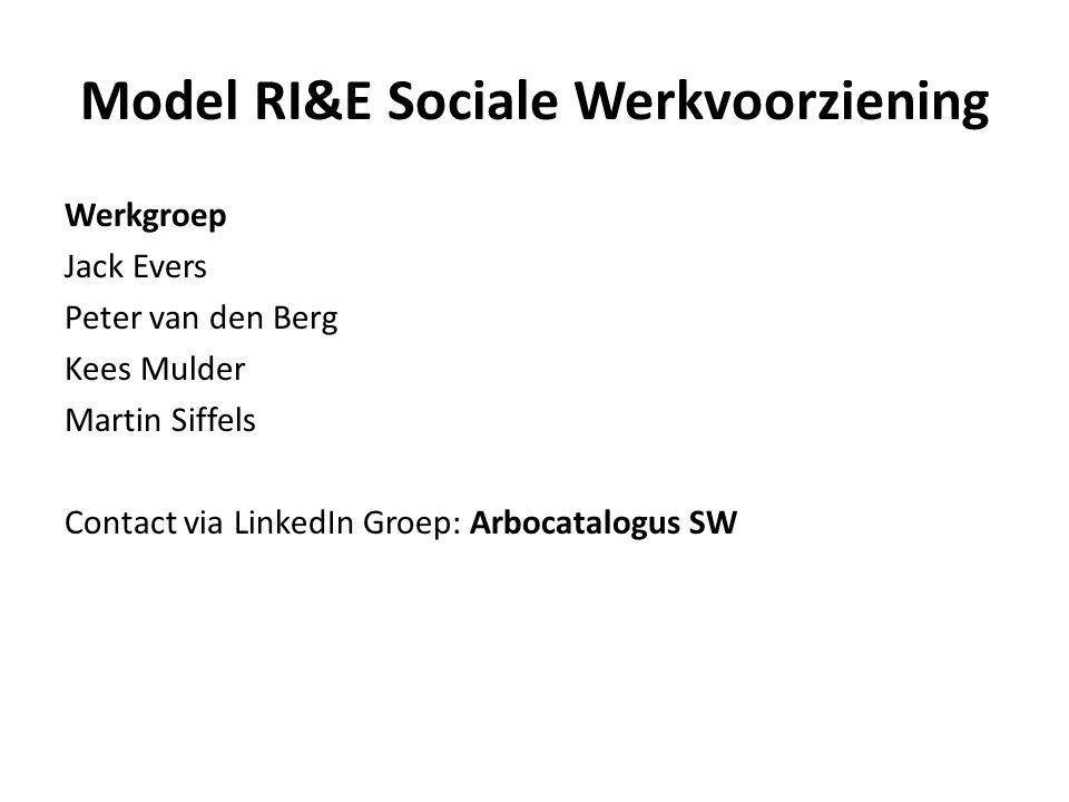 Model RI&E Sociale Werkvoorziening