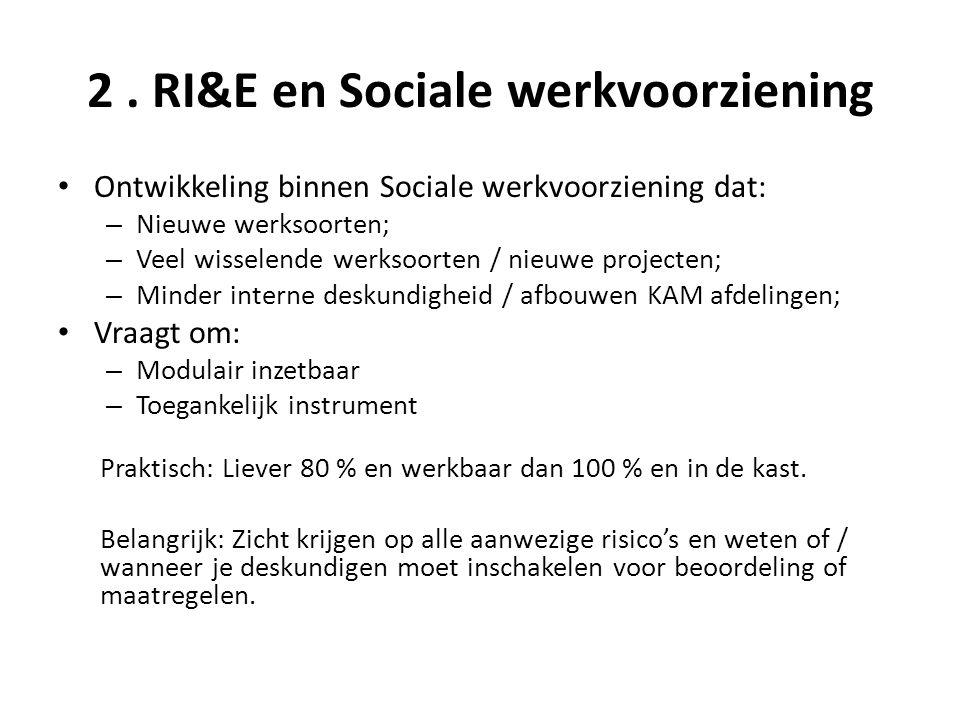 2 . RI&E en Sociale werkvoorziening