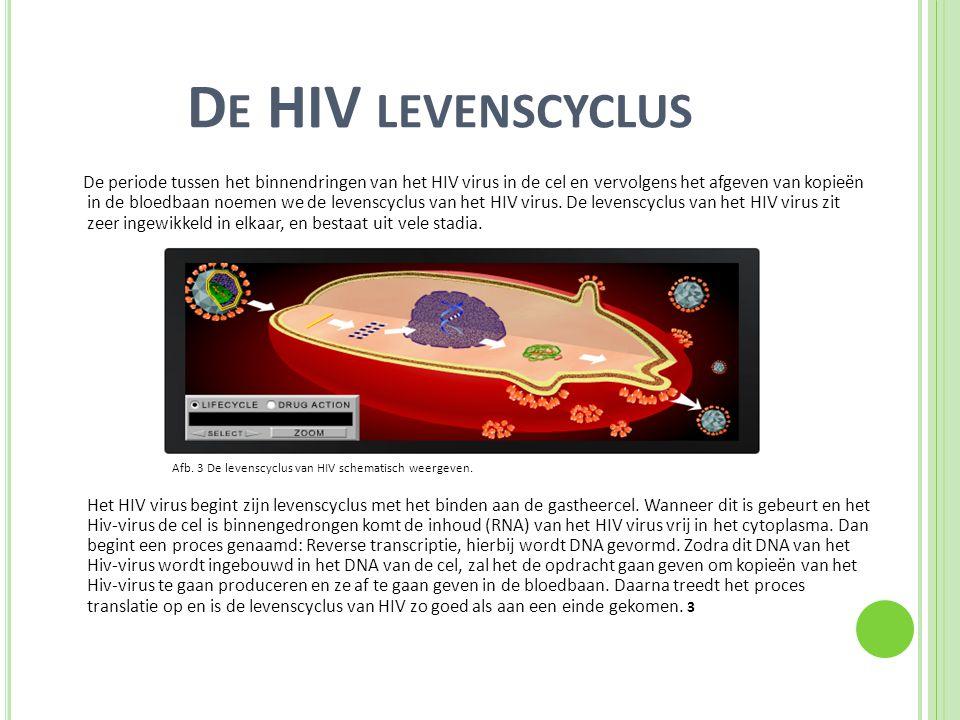 De HIV levenscyclus