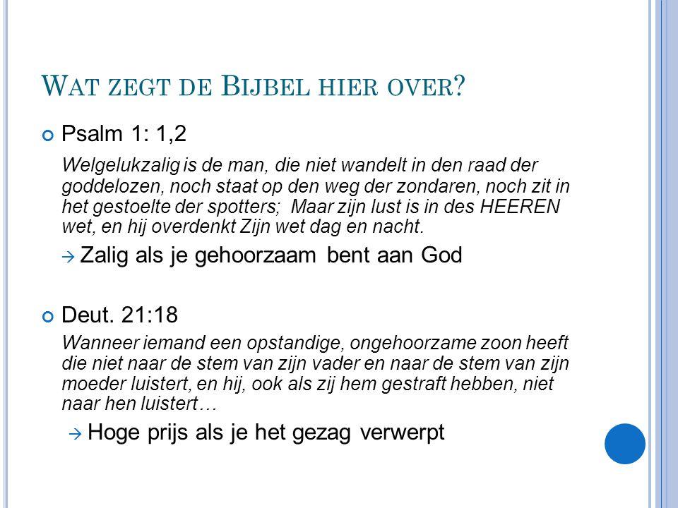 Wat zegt de Bijbel hier over