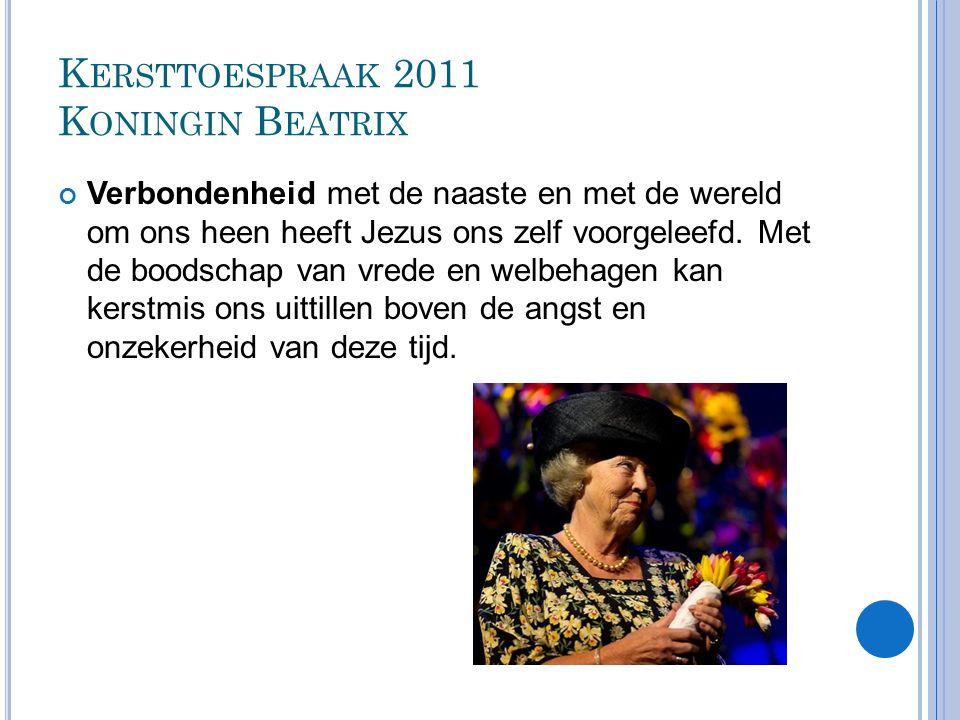 Kersttoespraak 2011 Koningin Beatrix