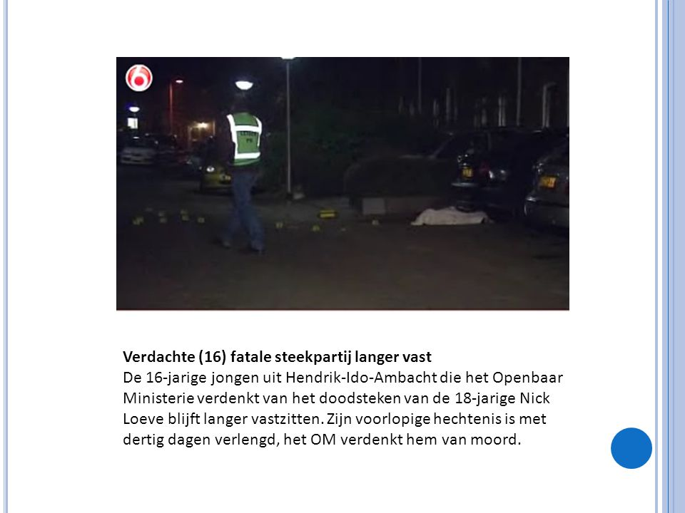 Verdachte (16) fatale steekpartij langer vast