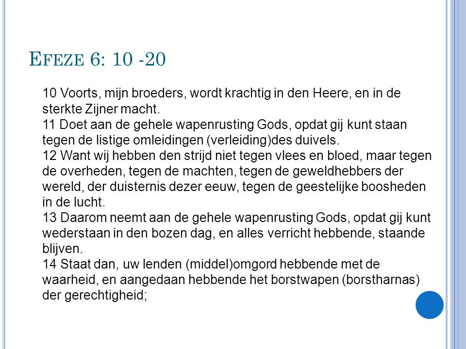 Efeze 6: 10 -20