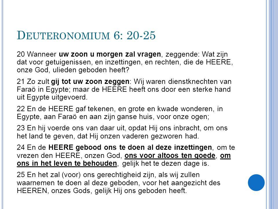 Deuteronomium 6: 20-25