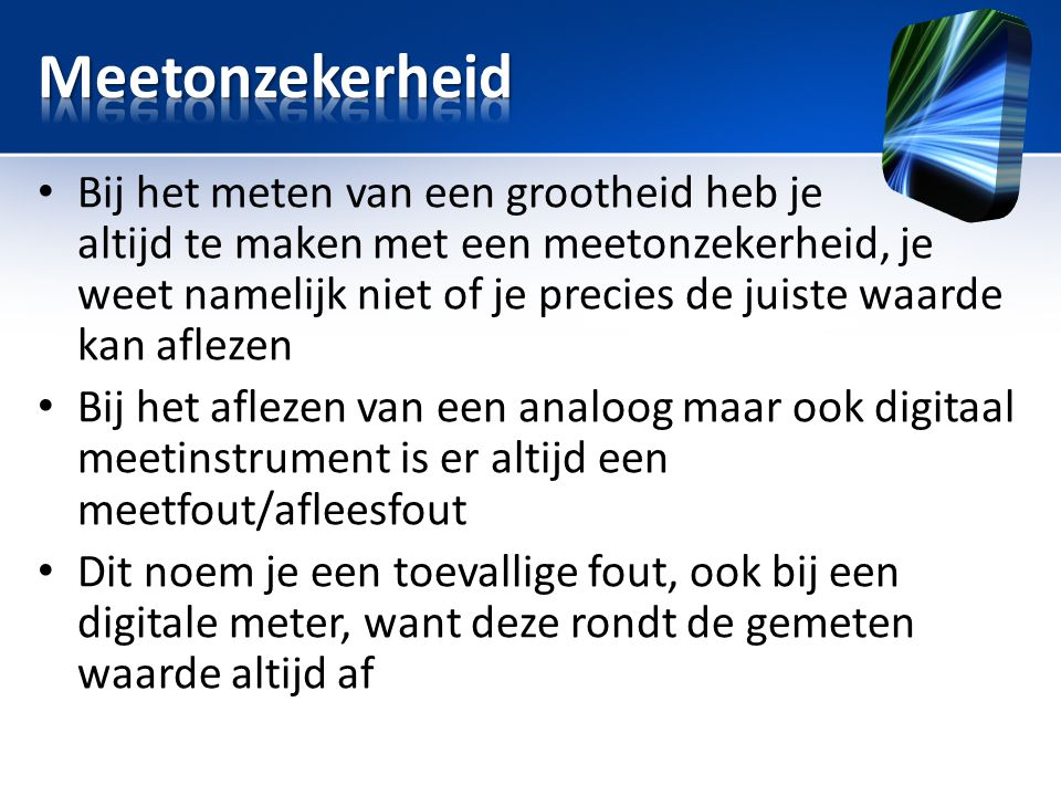 Meetonzekerheid