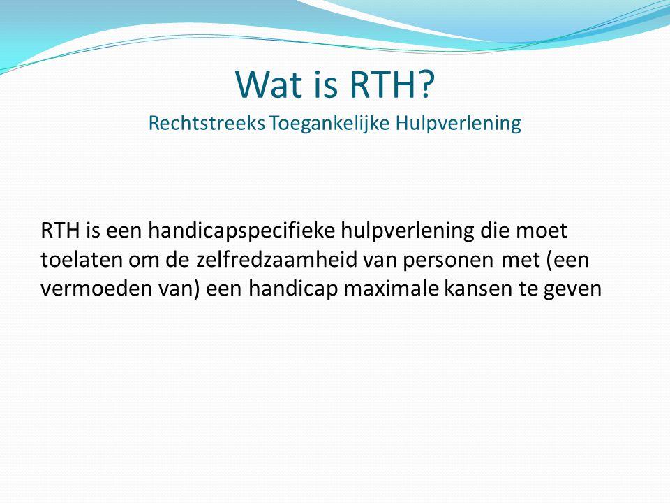 Wat is RTH Rechtstreeks Toegankelijke Hulpverlening