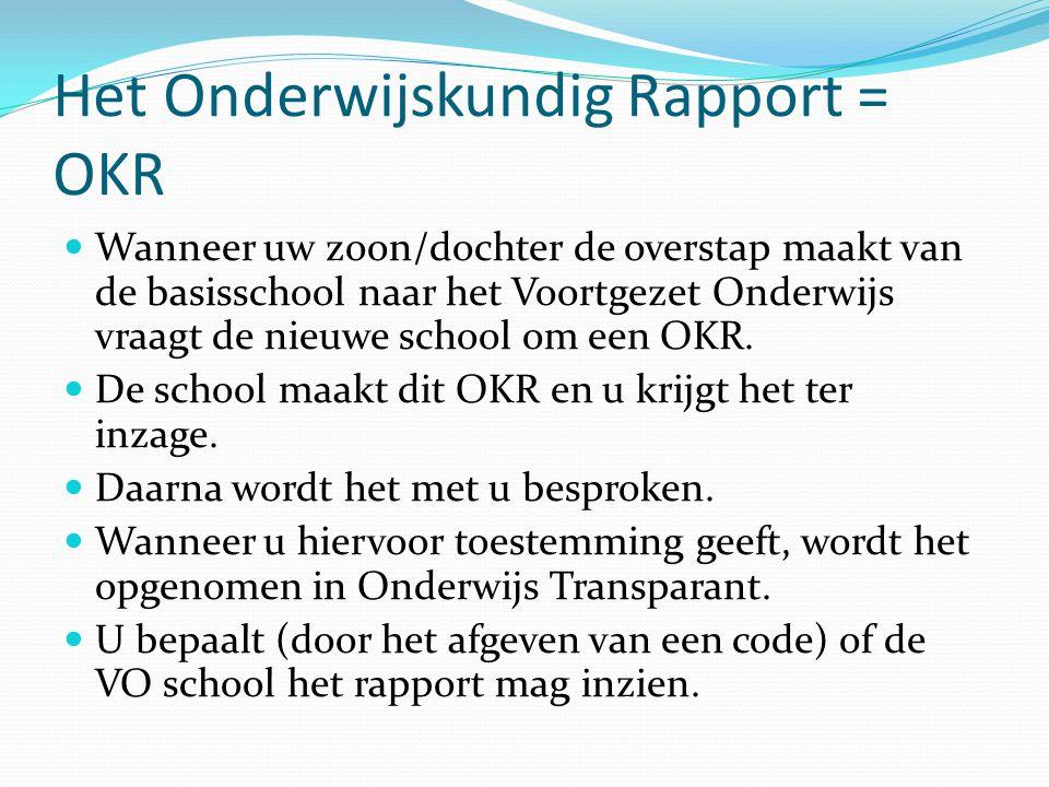 Het Onderwijskundig Rapport = OKR