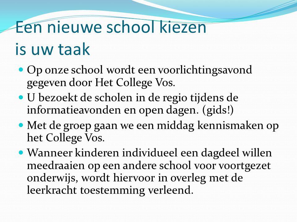 Een nieuwe school kiezen is uw taak