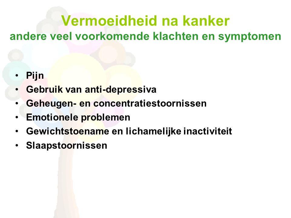 Vermoeidheid na kanker andere veel voorkomende klachten en symptomen