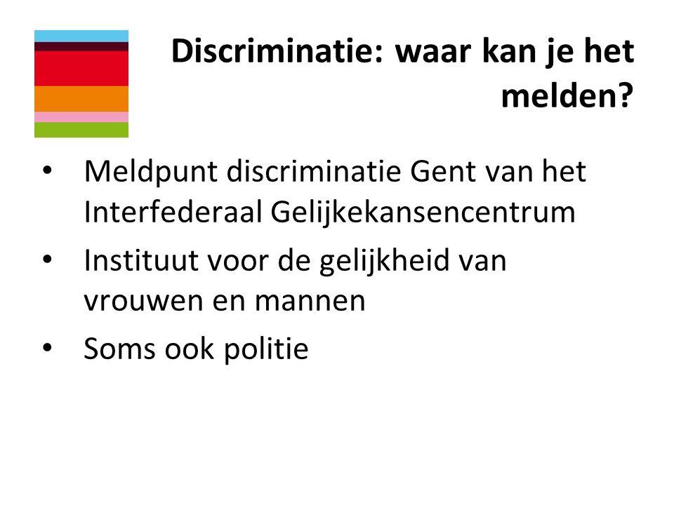Discriminatie: waar kan je het melden