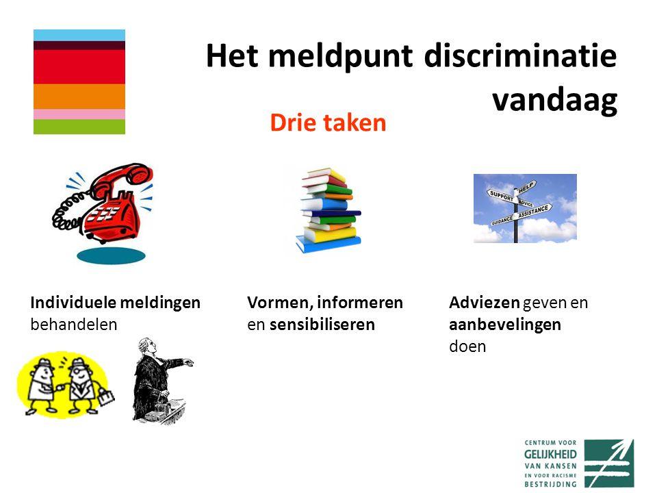 Het meldpunt discriminatie vandaag