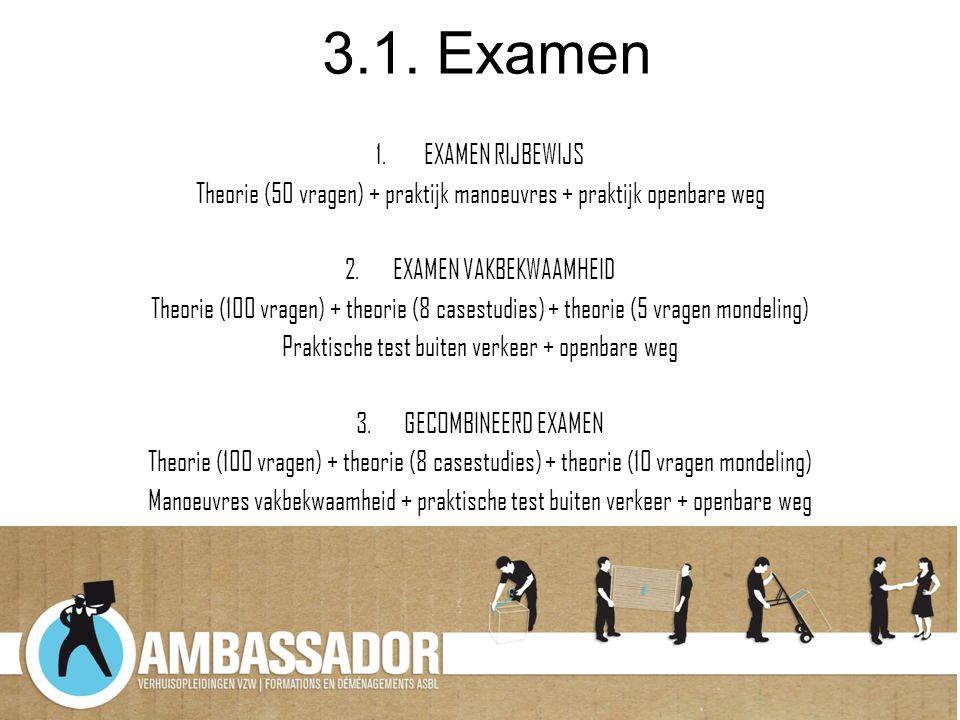 3.1. Examen EXAMEN RIJBEWIJS