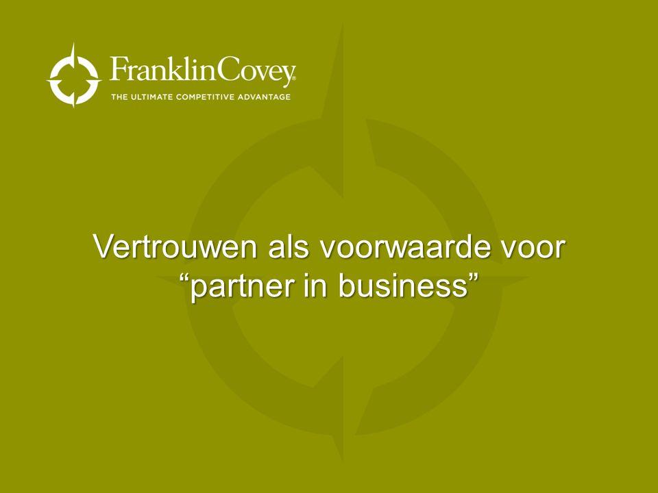 Vertrouwen als voorwaarde voor partner in business