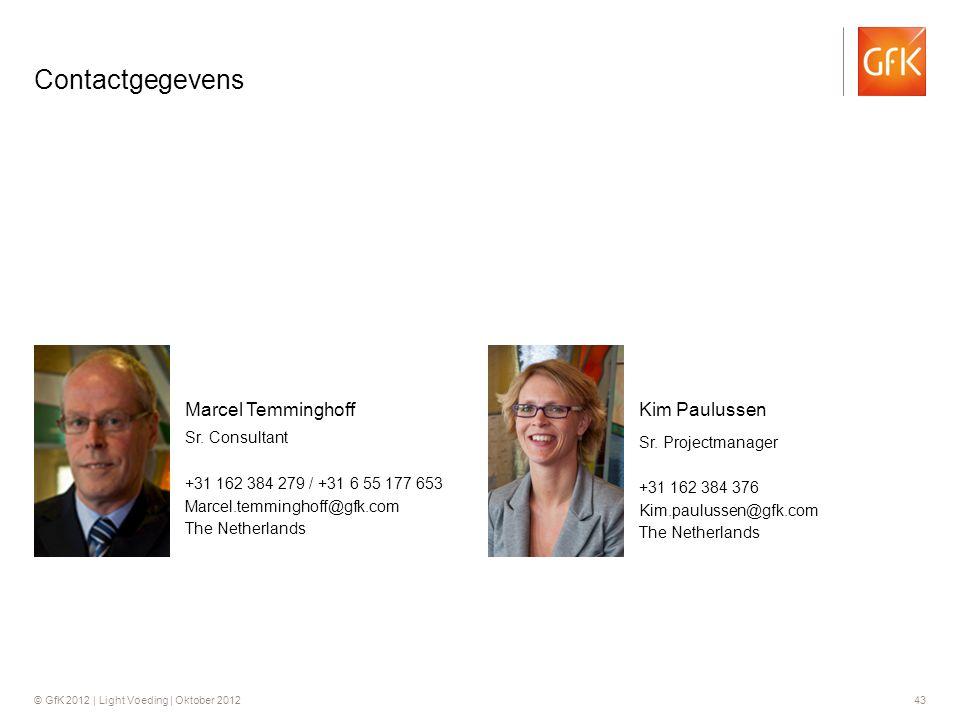 Contactgegevens Kim Paulussen Marcel Temminghoff Sr. Projectmanager