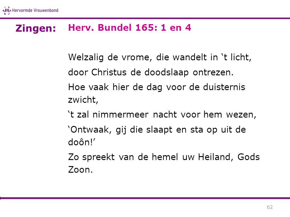Zingen: Herv. Bundel 165: 1 en 4