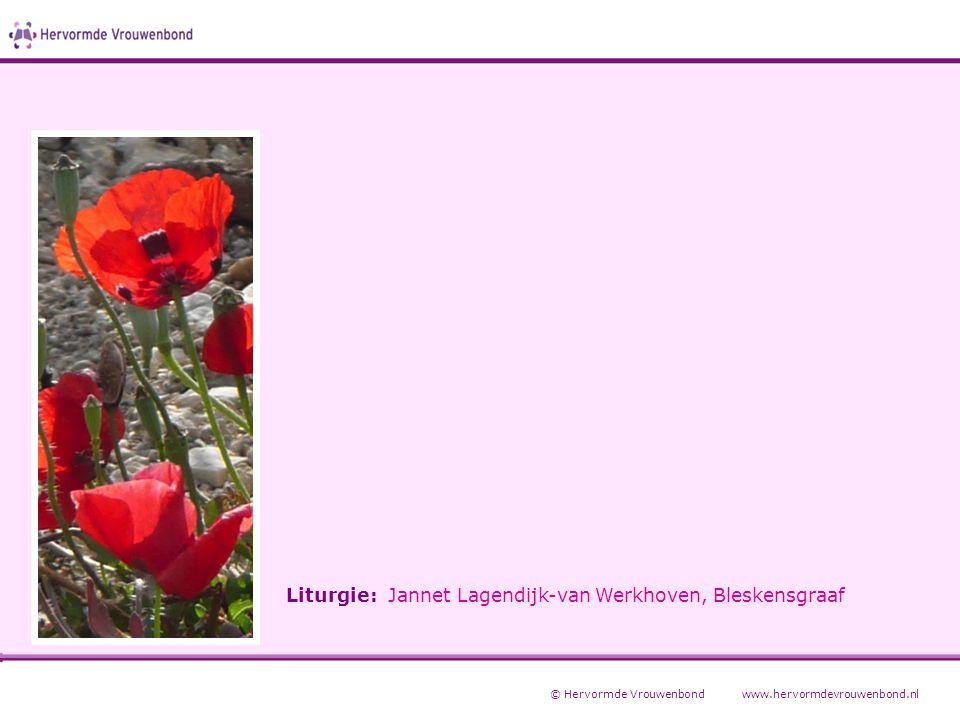 Liturgie: Jannet Lagendijk-van Werkhoven, Bleskensgraaf