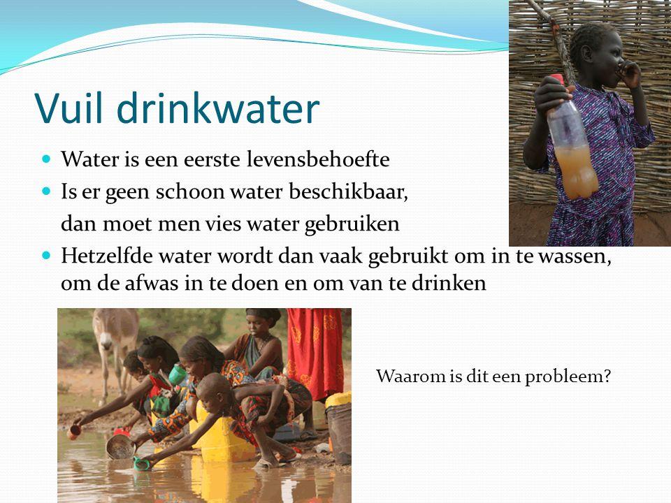 Vuil drinkwater Water is een eerste levensbehoefte