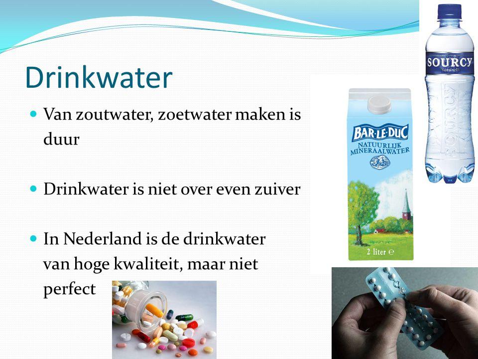 Drinkwater Van zoutwater, zoetwater maken is duur