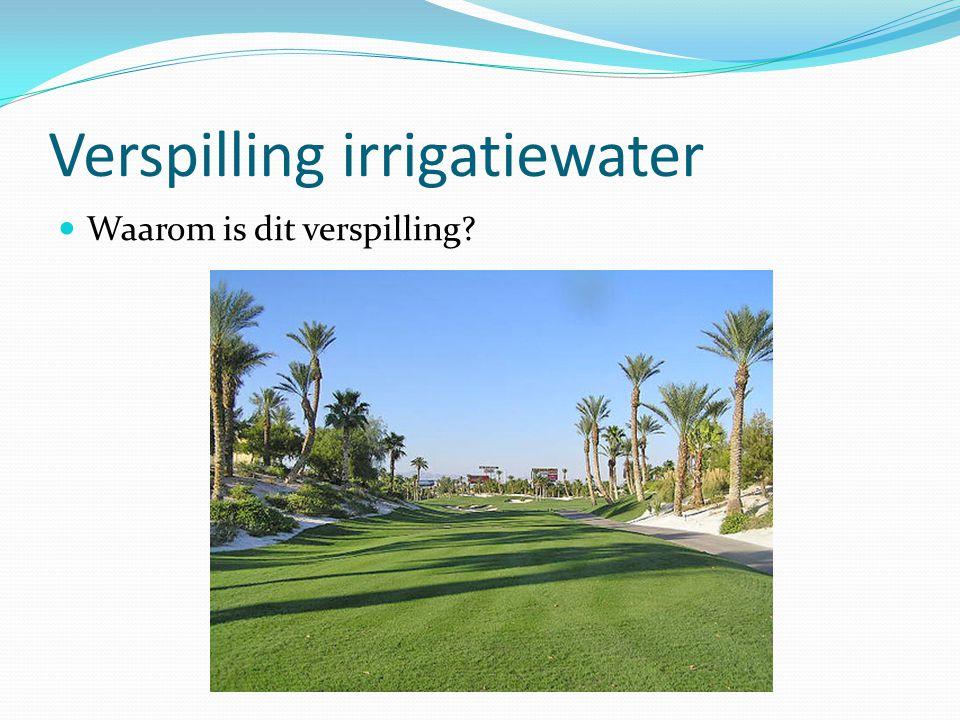 Verspilling irrigatiewater