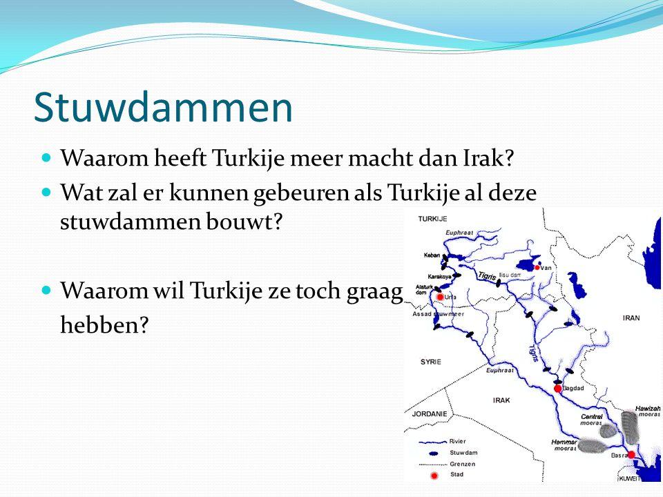 Stuwdammen Waarom heeft Turkije meer macht dan Irak