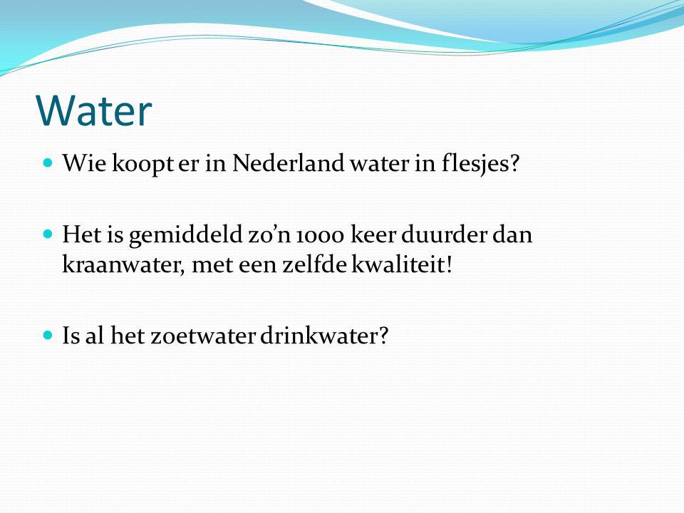 Water Wie koopt er in Nederland water in flesjes