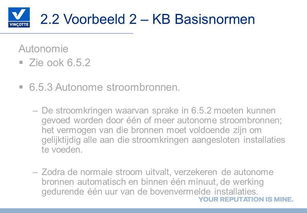 2.2 Voorbeeld 2 – KB Basisnormen