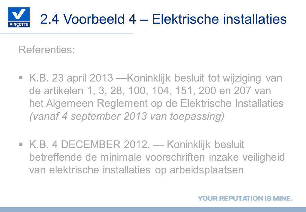 2.4 Voorbeeld 4 – Elektrische installaties