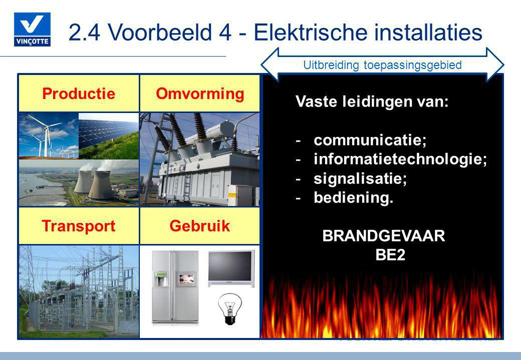 2.4 Voorbeeld 4 - Elektrische installaties