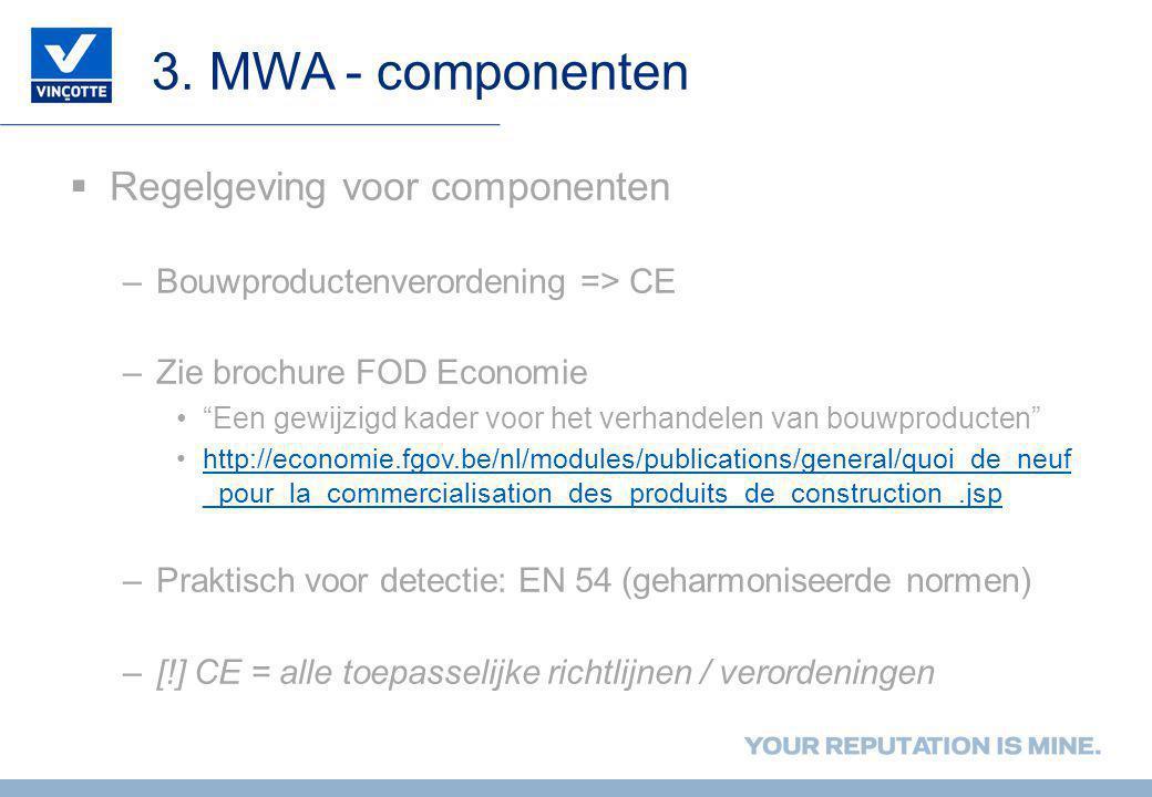 3. MWA - componenten Regelgeving voor componenten