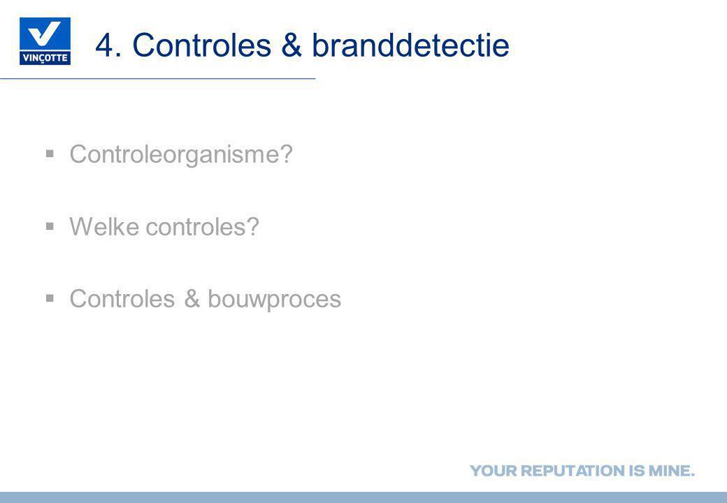 4. Controles & branddetectie