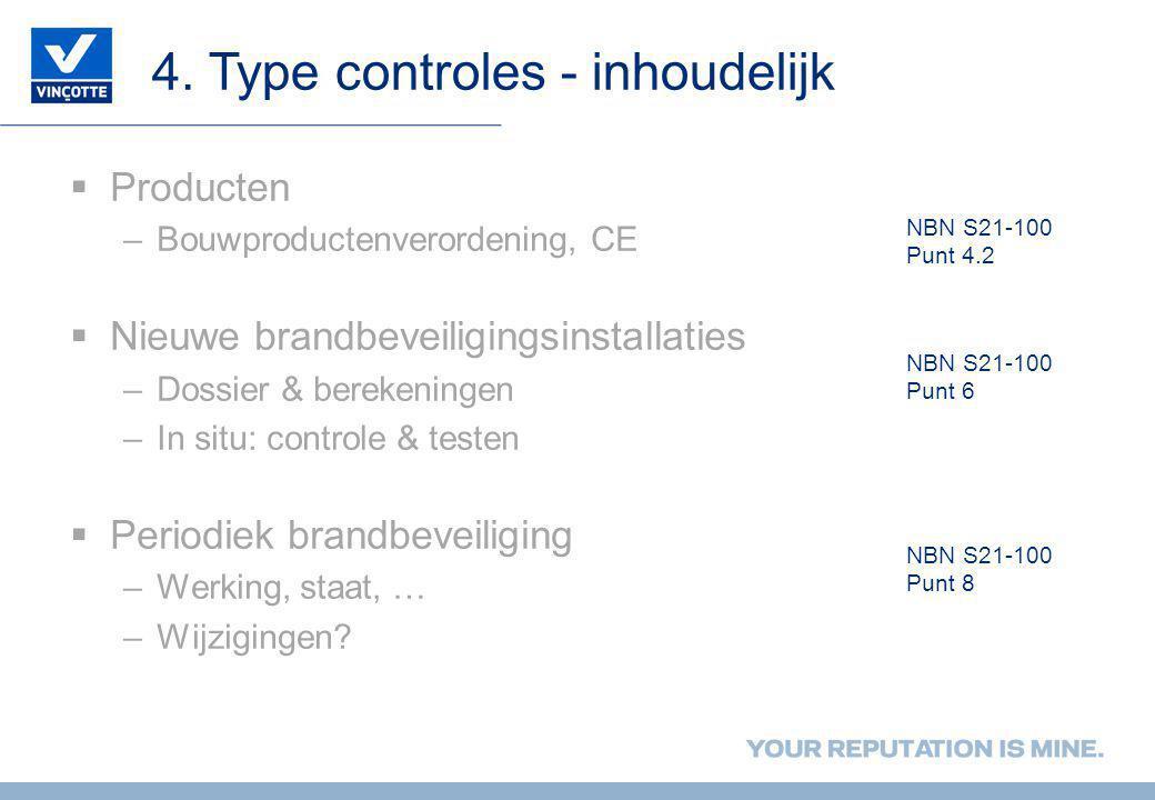 4. Type controles - inhoudelijk