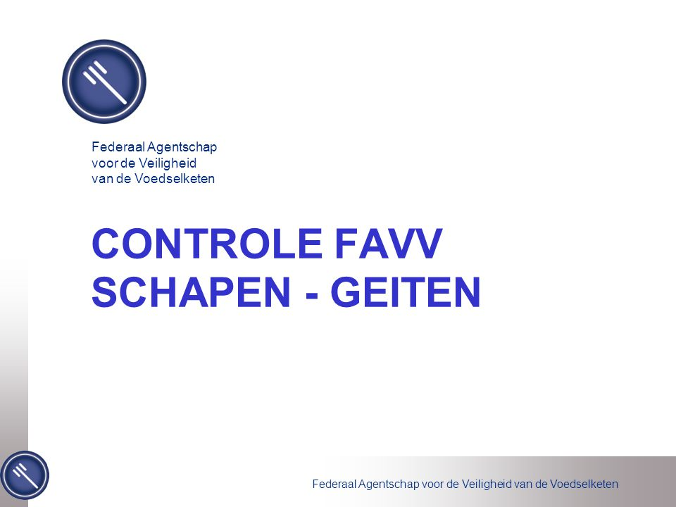 CONTROLE FAVV SCHAPEN - GEITEN