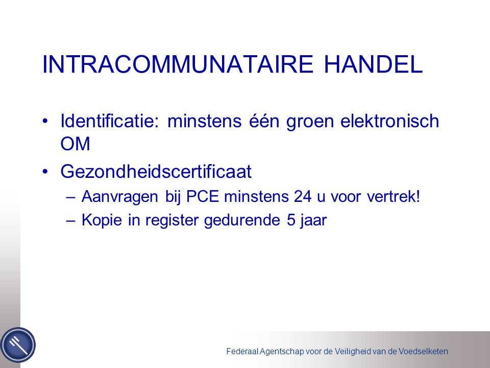 INTRACOMMUNATAIRE HANDEL