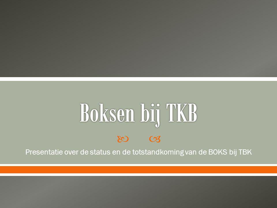 Presentatie over de status en de totstandkoming van de BOKS bij TBK