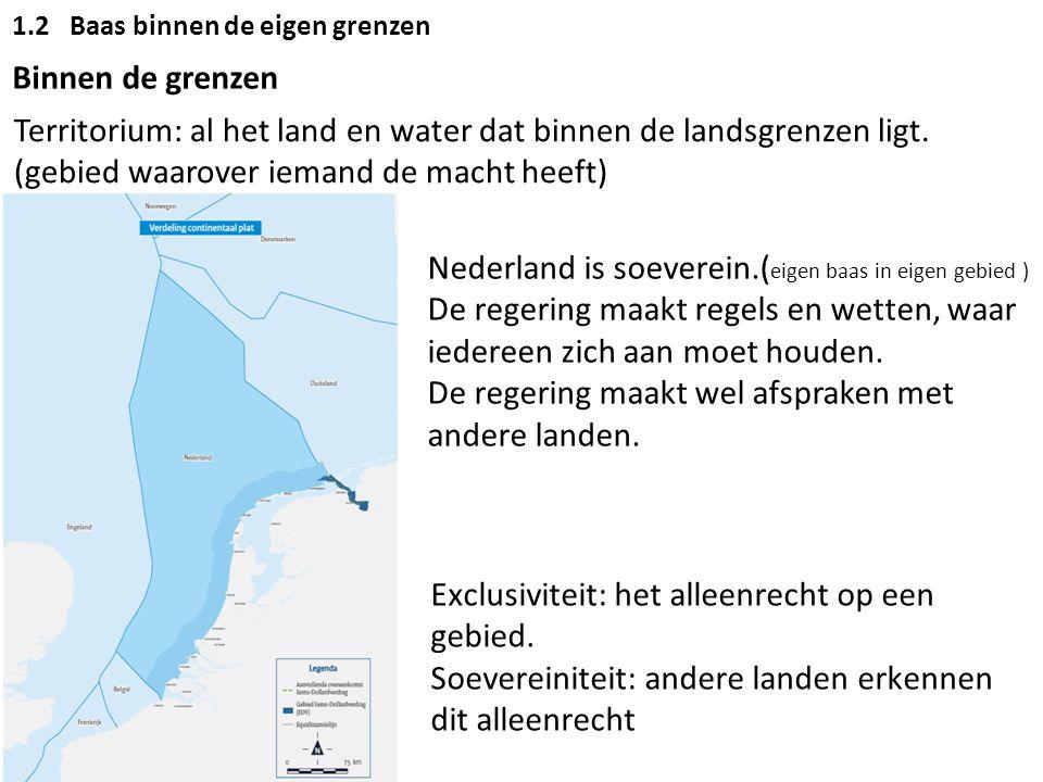 Territorium: al het land en water dat binnen de landsgrenzen ligt.