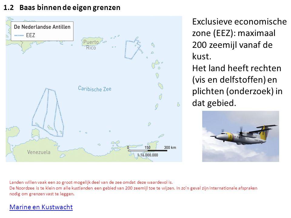 Exclusieve economische zone (EEZ): maximaal 200 zeemijl vanaf de kust.