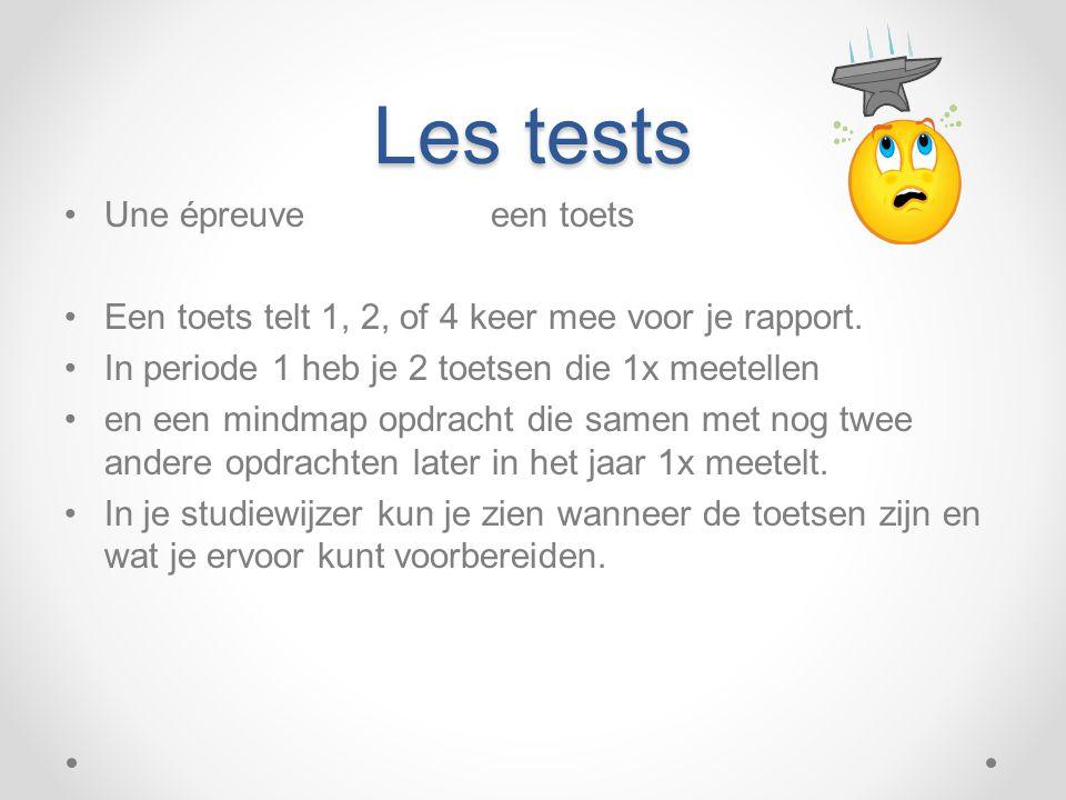Les tests Une épreuve een toets