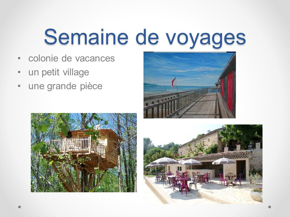 Semaine de voyages colonie de vacances un petit village