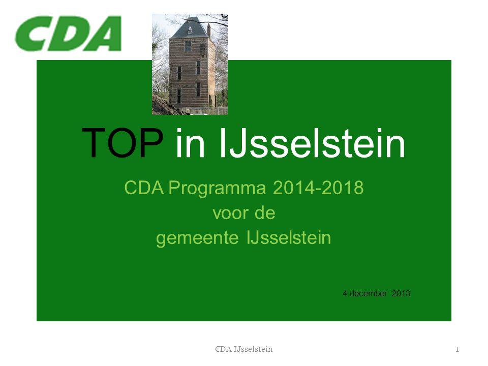 CDA Programma 2014-2018 voor de gemeente IJsselstein 4 december 2013