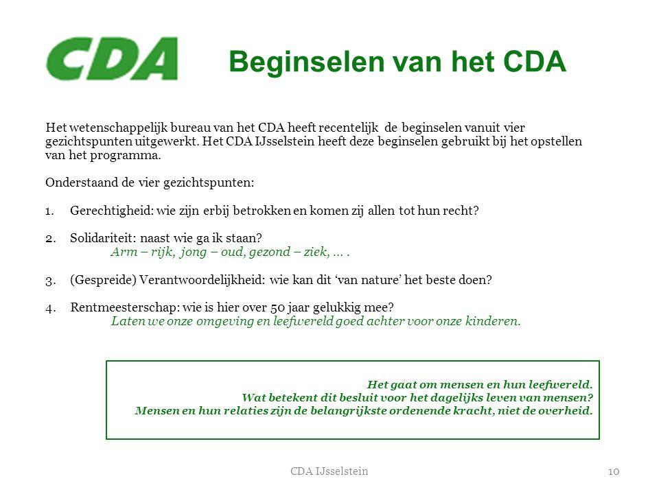 Beginselen van het CDA